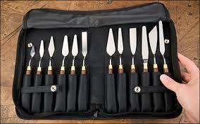 Мастихины Chestnut tools, 12штук в сумке