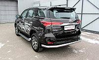 Защита заднего бампера d76 длинная Toyota Fortuner (2017)