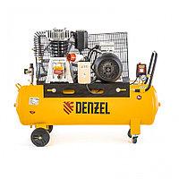 Компрессор DR4000/100, масляный ременный, 10 бар, производительность 690 л/м, мощность 4 кВт Denzel, фото 1