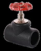 Вентиль 90 PE100 запорный под спайку внутрь Stop- Offvalve Poly