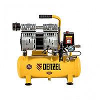 Компрессор DLS650/10 безмаслянный малошумный 650 Вт, 120 л/мин, ресивер 10 л Denzel, фото 1