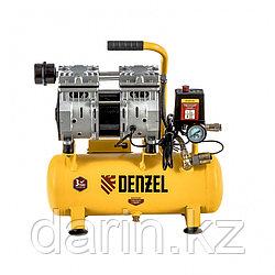 Компрессор DLS650/10 безмаслянный малошумный 650 Вт, 120 л/мин, ресивер 10 л Denzel