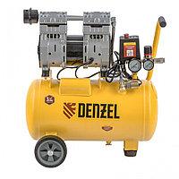Компрессор DLS950/24 безмаслянный малошумный 950 Вт, 165 л/мин, ресивер 24 л Denzel, фото 1