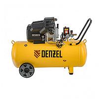 Компрессор воздушный DKV2200/100, Х-PRO 2.2 кВт, 400 л/мин, 100л Denzel, фото 1