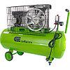 Компрессор воздушный КР-2200/100, 2.2 кВт, 350 л/мин, 100 л, ременной привод, масляный Сибртех