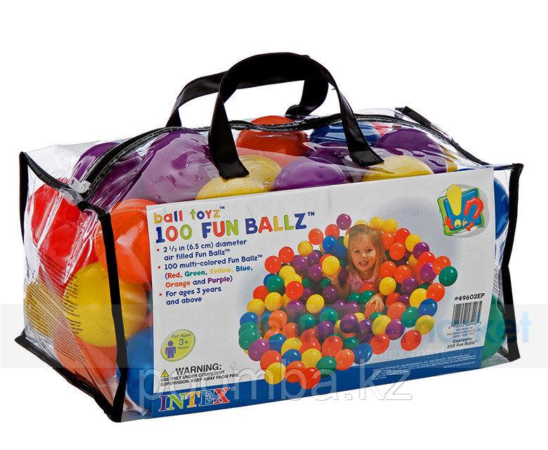 Набор из 100 разноцветных пластиковых шаров в мешке для переноски. 6,5 см INTEX