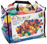 Набор из 100 разноцветных пластиковых шаров в мешке для переноски. 8 см INTEX