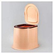 Унитаз - стульчак для дачного туалета пластиковый (бежевый), М6373