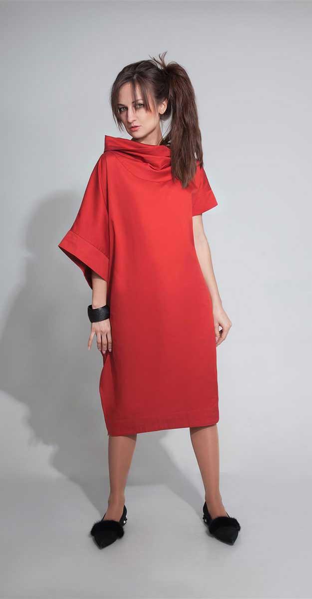 Платье ElPaiz-300, красный, 48