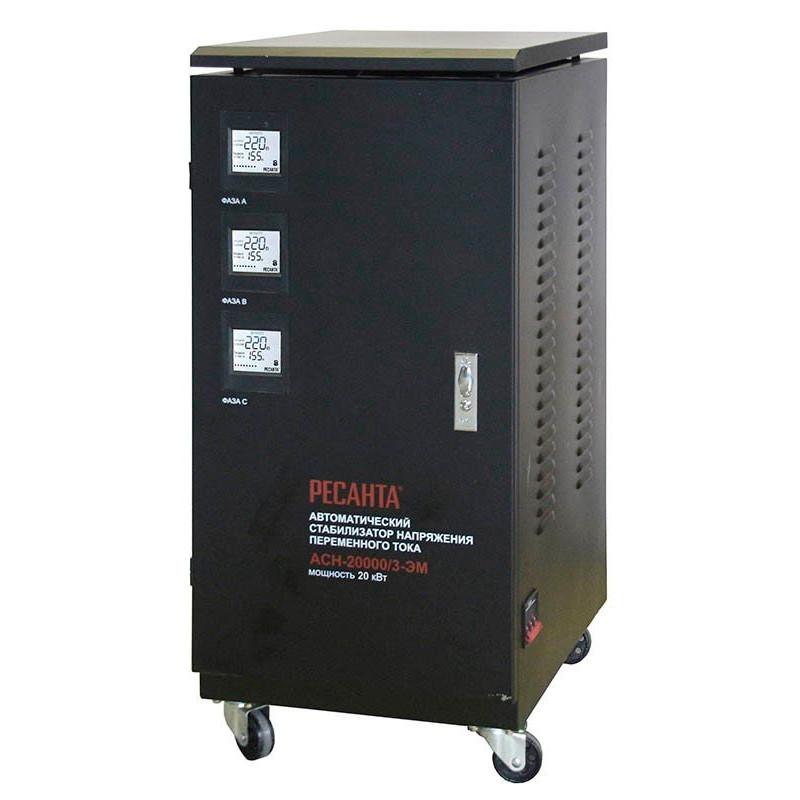Печать Стабилизатор напряжения РЕСАНТА АСН-20000/3-ЭМ 20 кВт Трехфазный электромеханический