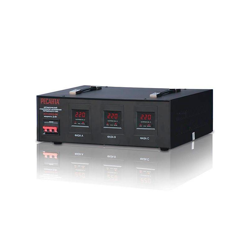 Стабилизатор напряжения РЕСАНТА АСН-3000/3-ЭМ 3 кВт Трехфазный электромеханический
