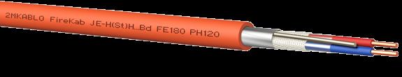 Кабель JE-H(St)H...Bd (SI) FE-180 PH120 2*2*0,8+0,8