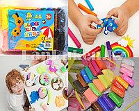 Набор для творчества легкий пластилин Super Clay 24 цвета с ножами, 8837
