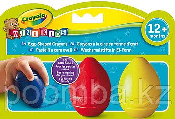 Восковые мелки в форме яйца, 3 цвета