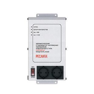 Стабилизатор напряжения РЕСАНТА АСН-600/1-И 0,6 кВт Однофазный, Релейный