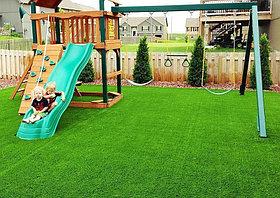 Искусственный газон 15 мм ландшафтная для детских площадок