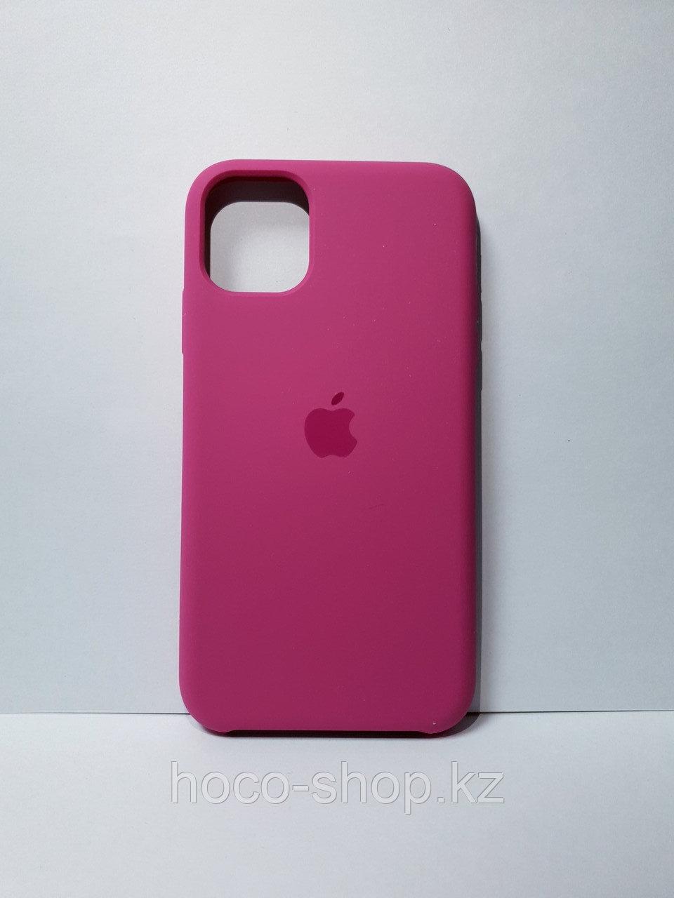 Защитный чехол для iPhone 11 Pro Soft Touch силиконовый, темно розовый