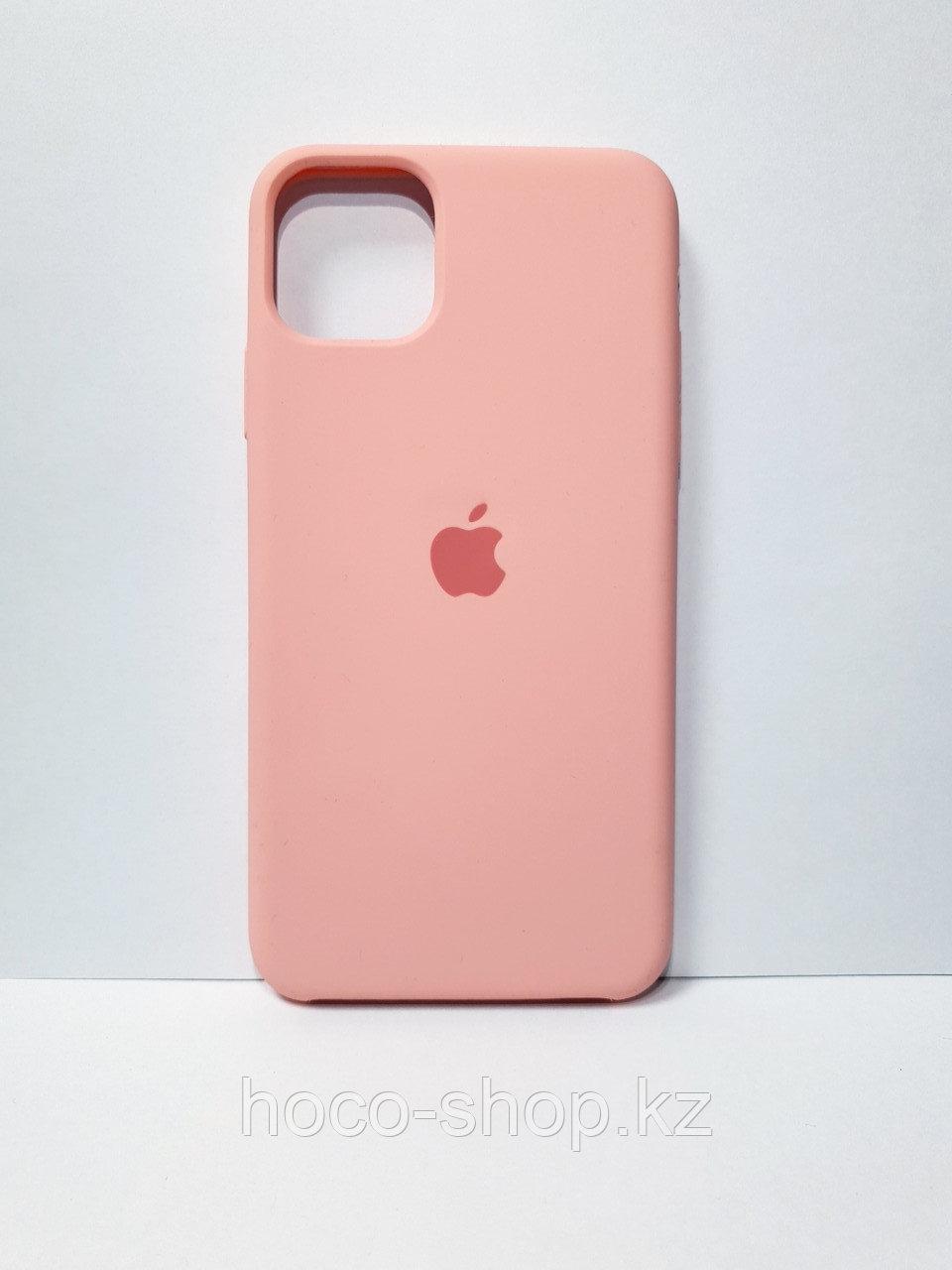 Защитный чехол для iPhone 11 Pro Soft Touch силиконовый, светло-розовый