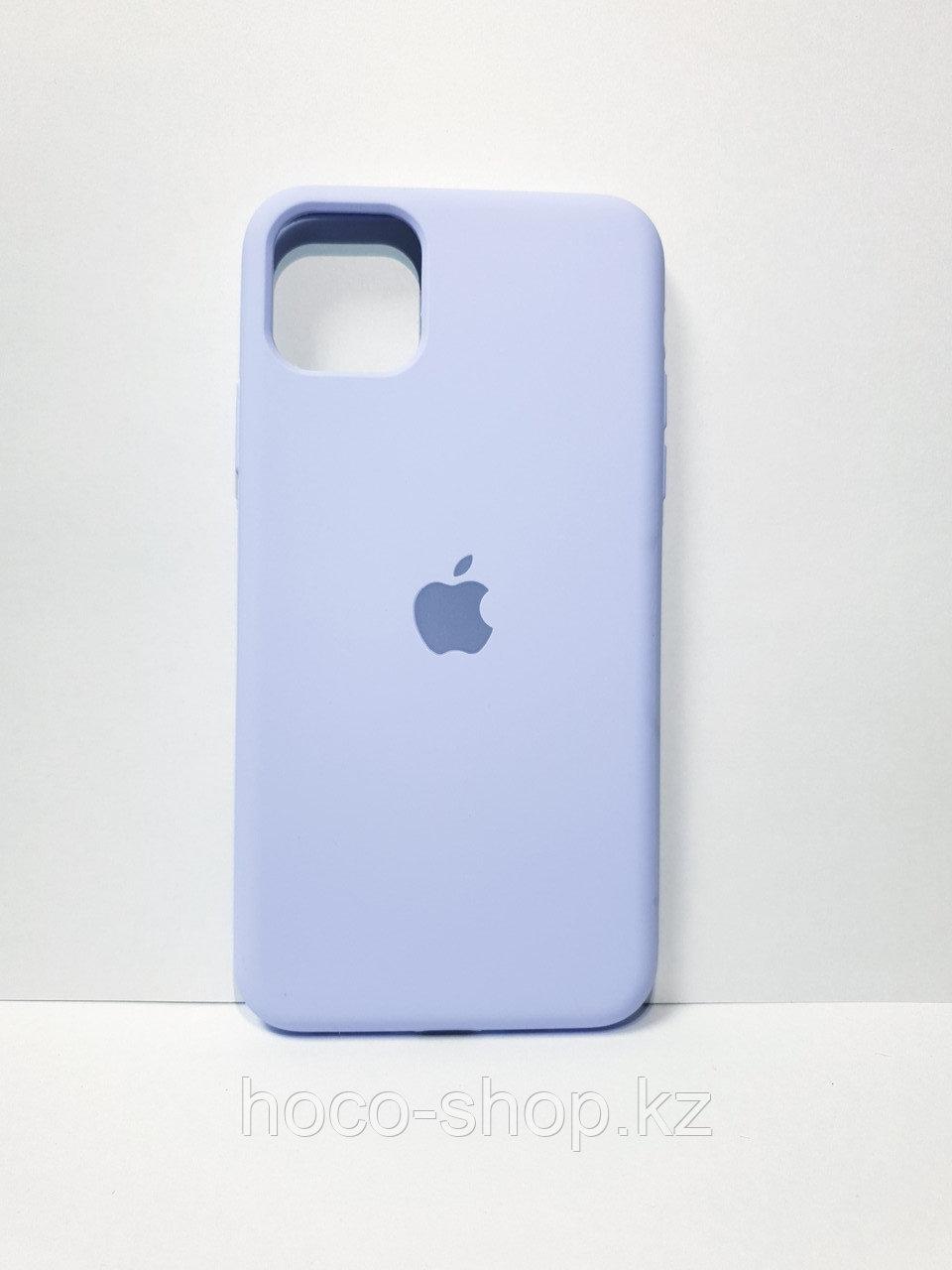 Защитный чехол для iPhone 11 Pro Soft Touch силиконовый, голубой