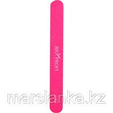 Пилка для натуральных ногтей Rio Profi прямая розовая 240/240
