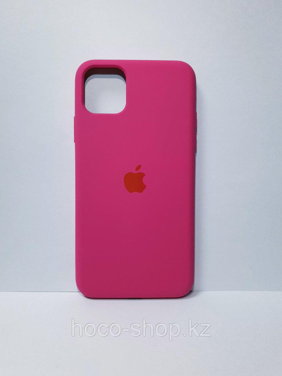 Защитный чехол для iPhone 11 Pro Soft Touch силиконовый, вишневый
