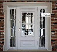 Двери стальные двустворчатые