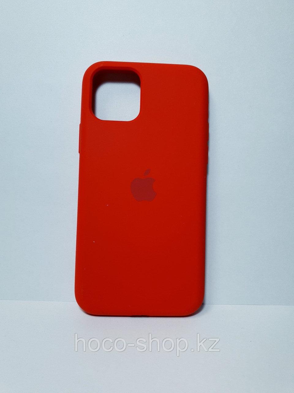Защитный чехол для iPhone 11 Pro Soft Touch силиконовый, красный