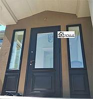 Входные двери со стеклом на заказ Алматы