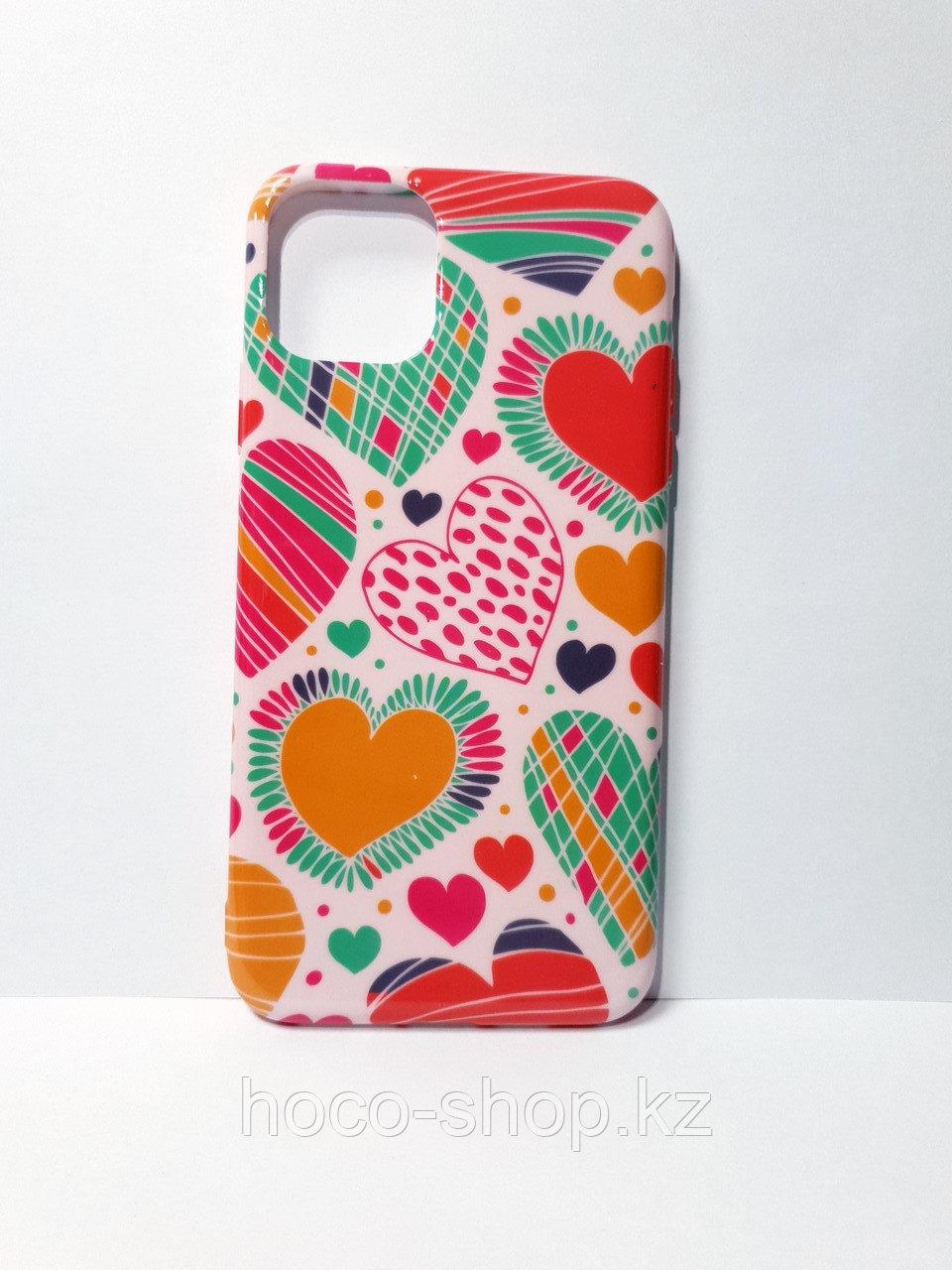 Чехол гель цветная iPhone 11 Pro