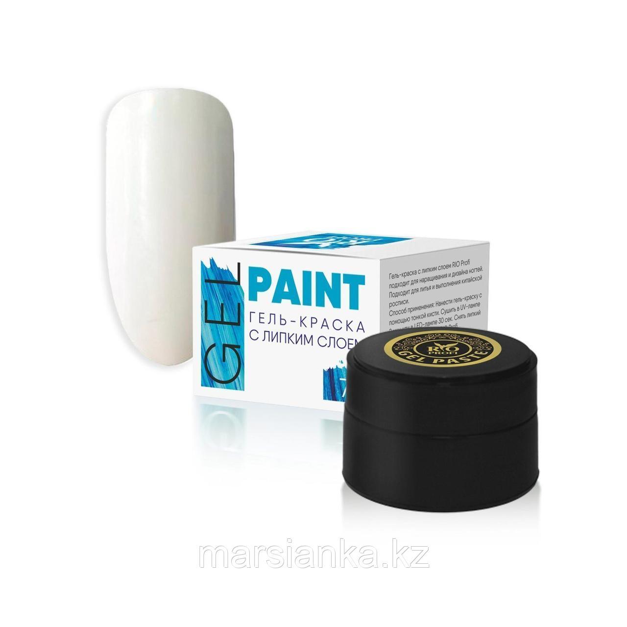 Гель краска с липким слоем Rio Profi (Белая), 7гр