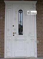 Дверь со стеклопакетом и ковкой на заказ