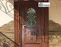 Дверь металлическая с кованными элементами на заказ