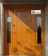 Дверь входная со стеклопакетом с отделкой МДФ