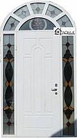Дверь железная со стеклопакетом