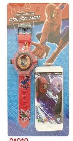 """Набор игровой """"Человек паук"""" (часы + телефон) ( 0224-5* )"""