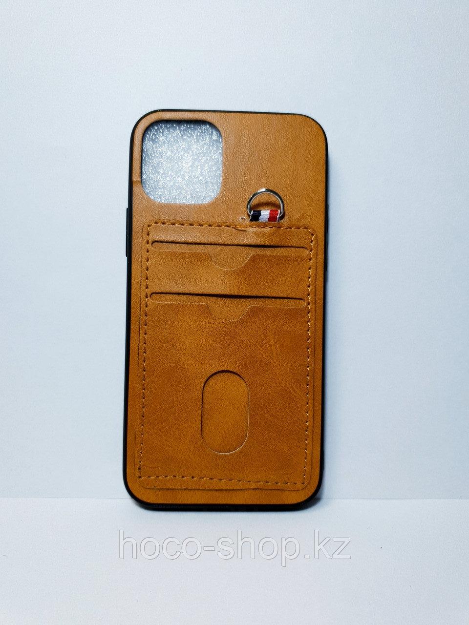 Кожаный чехол с визитницей  iPhone 11 Pro