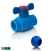 Шаровой кран из ППР для холодной воды с шариком из АБС, D- 20 BO