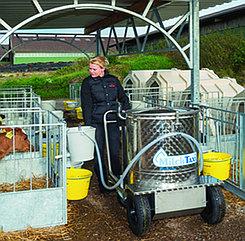 Молочное такси - устройство для пастеризации и выпойки молока