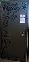 """Входная дверь """"Щит-эксклюзив"""" с коваными элементами"""