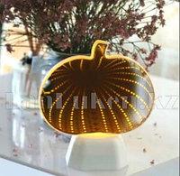 Светильник Тыква ночник зеркальный тыква 15 x 17 см (на батарейках, USB)