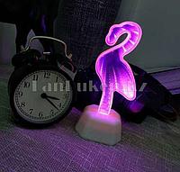Светильник Фламинго ночник зеркальный фламинго 19 x 8 см (на батарейках, USB)