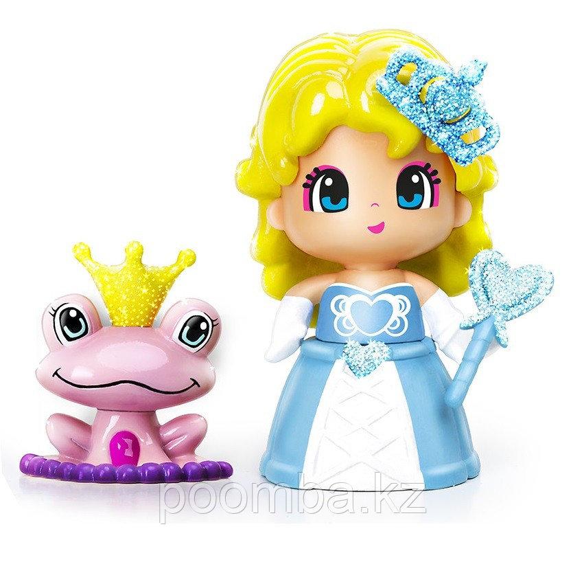Кукла Пинипон - Принцесса в голубом платье с питомцем