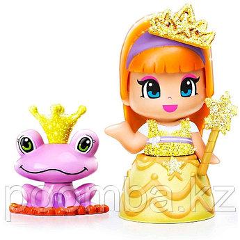 Кукла Пинипон - Принцесса в желтом платье с питомцем