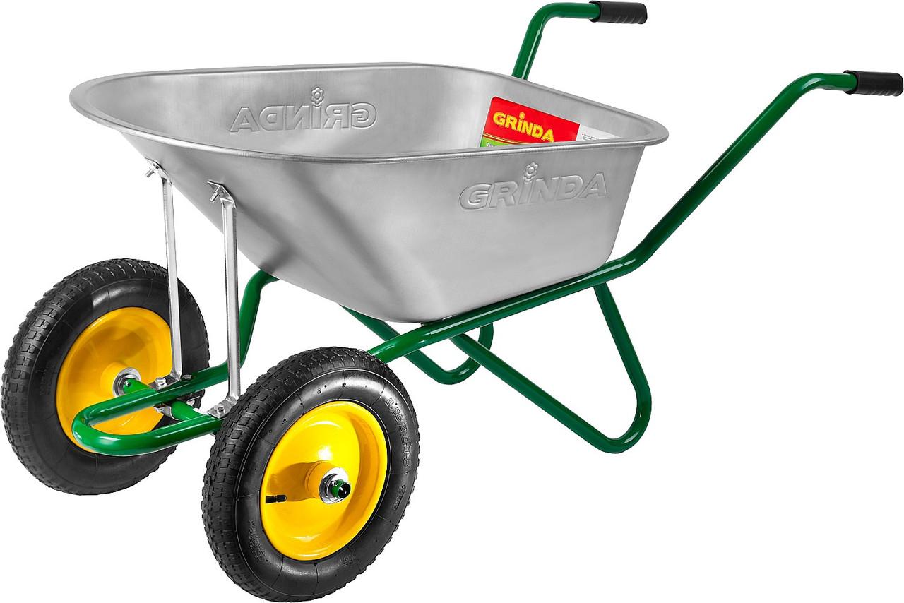 GRINDA тачка садово-строительная двухколесная, 90 л, 180 кг,  422397_z01