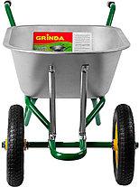 GRINDA тачка садово-строительная двухколесная, 90 л, 180 кг,  422397_z01, фото 3