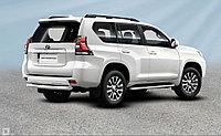 Защита заднего бампера d76 короткая Toyota Land Cruiser Prado (2017-20)
