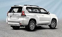 Защита заднего бампера d57 короткая Toyota Land Cruiser Prado (2017-20)
