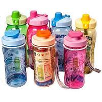 Бутылка питьевая для воды с поилкой MATSU [350, 500, 1000 мл] (Голубой / 1000 мл)