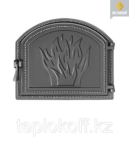 Дверца Везувий чугунная печная (218), 415х490 мм, антрацит