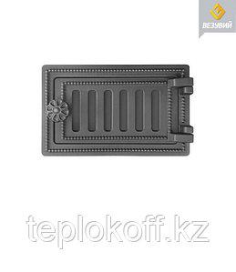 Дверца Везувий чугунная поддувальная ДП-2, антрацит